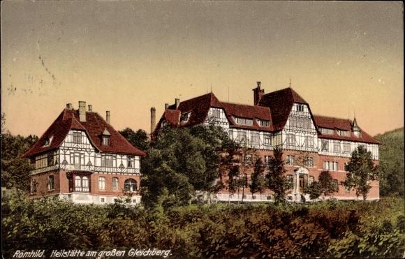 Ak Römhild in der Region Grabfeld Thüringen, Heilstätte am großen Gleichberg