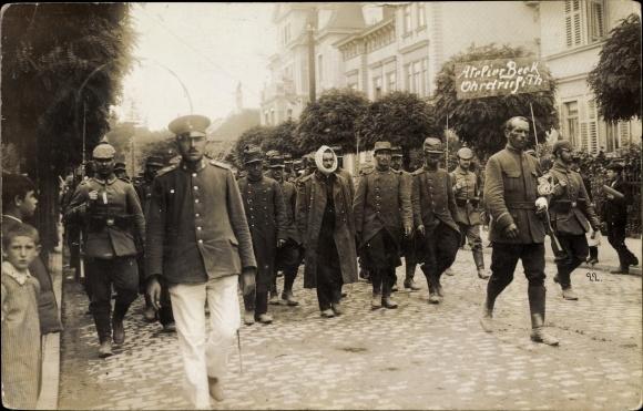 Foto Ak Ohrdruf im Thüringischen Kreis Gotha, gefangene Franzosen, Verwundete, I. WK