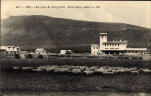 Ak Fès Fez Marokko, La Gare de Tanger-Fez, Bahnhof, Schafherde
