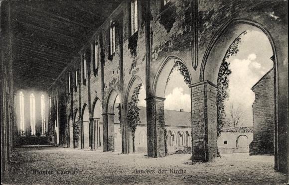 Ak Chorin im Kreis Barnim, Partie am Kloster, Inneres der Kirche