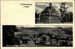 Ak Burkhardtsdorf im Erzgebirge Sachsen, Mittlerer Ortsteil mit Blick auf Siedlung