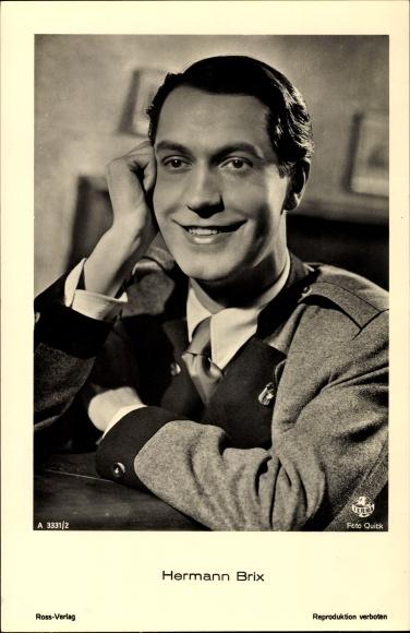 Ak Schauspieler Hermann Brix, Portrait im Anzug, Ross Verlag 3331 / 2
