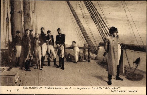 Künstler Ak Orchardson, William, Napoleon on board the Bellerophon, Bellerophon