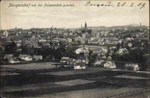 Ak Ebersbach Neugersdorf, Blick auf den Ort von der Felsenmühle aus