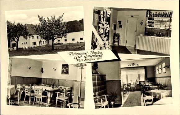 Ak Zerkall Hürtgenwald Nordrhein-Westfalen, Restaurant Pension Gut Kallerbend, Inh. Herbert Humpert