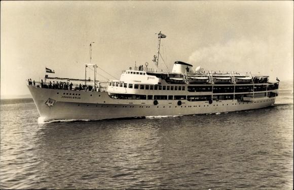 Ak Fährschiff MB Jugoslavija, Ansicht Backbord