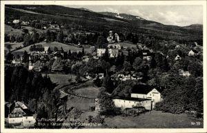 Ak Przesieka Hain Podgórzyn Giersdorf Riesengebirge Schlesien, Blick vom Katzenstein, Schneegruben