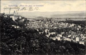 Ak Rudolstadt in Thüringen, Blick vom Hain, Panorama vom Ort