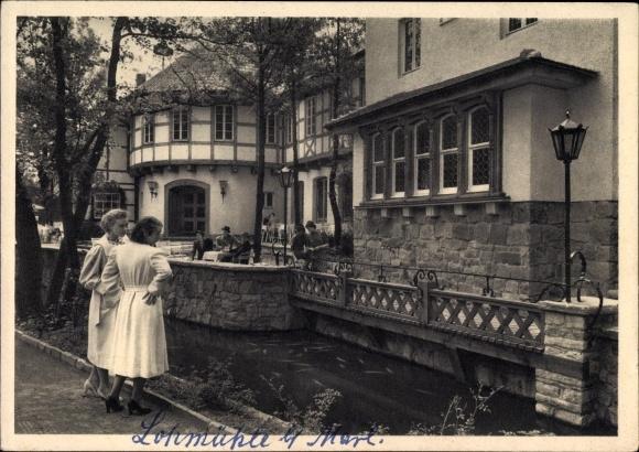 Ak Hüls Marl im Kreis Recklinghausen, Haus Loe an der alten Loemühle