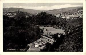 Ak Altweilnau Weilrod im Weiltal Hochtaunuskreis, Gesamtansicht des Ortes und Umgebung