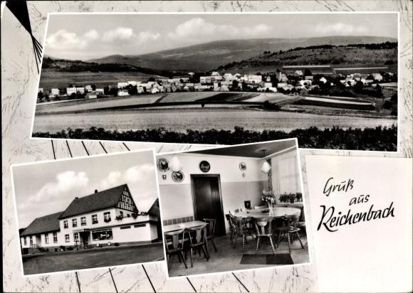 Ak Reichenbach Hessisch Lichtenau Werra Meißner Kreis, Gasthaus Pension Zum Schlossberg, Inh. Vogt