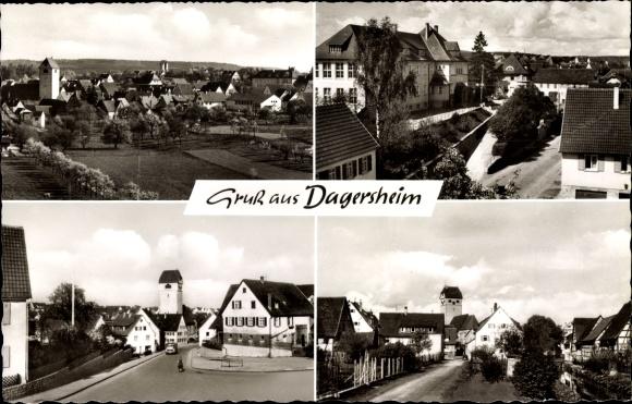 Ak Dagersheim Böblingen in Baden Württemberg, Blick auf Ortschaft und Umgebung