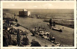 Ak Szczecin Stettin Pommern, Blick von der Hakenterrasse, Panorama