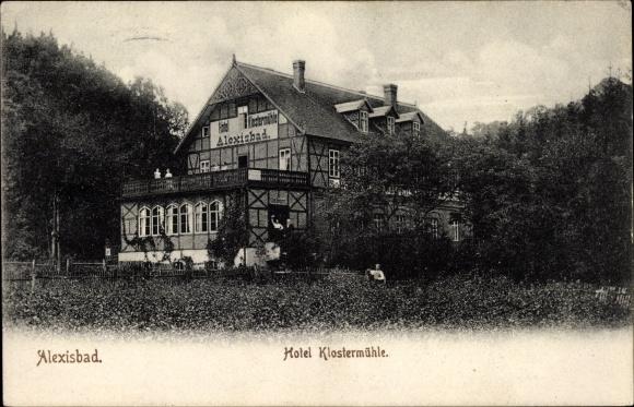 Ak Alexisbad Harzgerode am Harz, Hotel Klostermühle