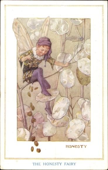 Künstler Ak Tarrant, Margaret W., The Honesty Fairy, Fee, Elfe, Ehrlichkeit