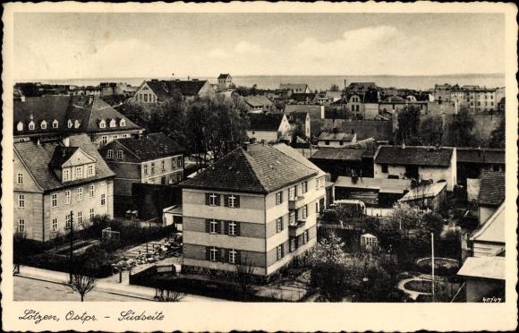 Ak Giżycko Lötzen Ostpreußen, Blick auf Stadt, Südseite