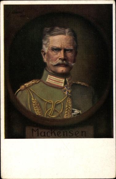 Künstler Ak Generalfeldmarschall Mackensen, Pour le Mérite, Portrait