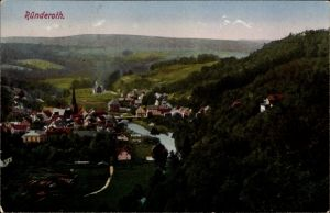 Ak Ründeroth Engelskirchen im Oberbergischen Kreis, Panorama von der Ortschaft