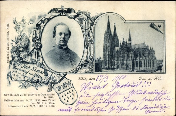Ak Köln am Rhein, Dr. Hub. Simar, Erzbischof von Köln