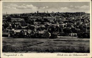 Ak Ebersbach Neugersdorf, Blick von der Felsenmühle auf den Ort