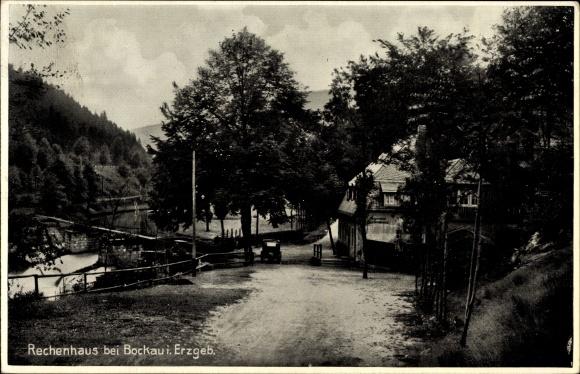Ak Albernau Zschorlau in Sachsen, Blick auf Gasthof Rechenhaus