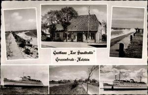 Ak Großenbrode in Ostholstein, Gasthaus zur Sandkuhle, Schiff Deutschland