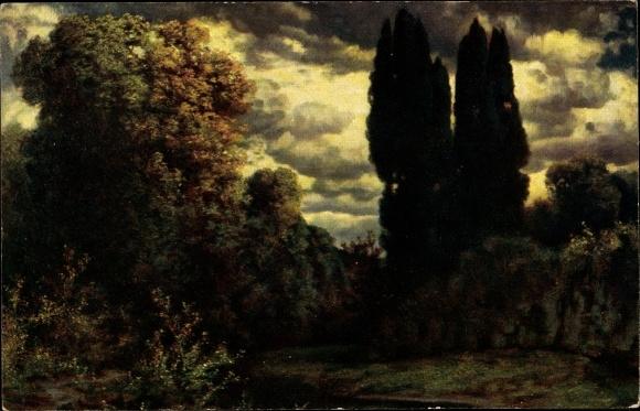 Künstler Ak Rüdisühli, H., Dämmerung, Senftenberger Krone Brikett Serie III, Bild 1