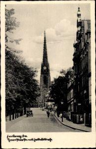 Ak Freiberg im Kreis Mittelsachsen, Hornstraße mit Jakobikirche, Straßenpartie