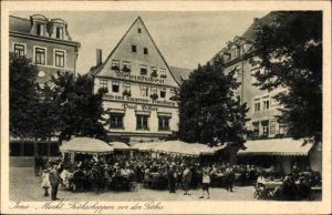 Ak Jena in Thüringen, Markt, Frühschoppen vor der Göhre, Weinstube, Zigarrenhandlung