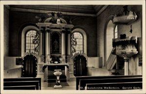 Ak Weißenborn Gleichen in Niedersachsen, Innenansicht der St. Nikolai Kirche, Altar