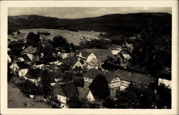 Ak Cunewalde im Kreis Bautzen, Mitteldorf mit dem Schleifberg, Czorneboh