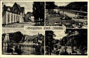 Ak Solingen in Nordrhein Westfalen, Tier- und Vergnügungspark, Strandbad, Brucher Mühle