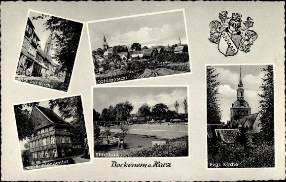 Ak Brocken am Harz, Kirche, Evang. Kirche, Superintendentur, Stadtbad