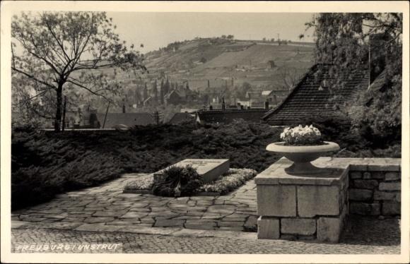 Ak Freyburg an der Unstrut, Ehrengrab, Denkmal, Ortspanorama Nr ...