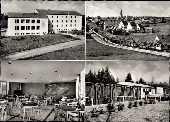 Ak Neuendettelsau in Mittelfranken, Zollhundeschule, Teilansicht der Zwingeranlage