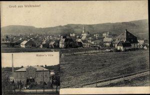 Ak Wehrsdorf Sohland an der Spree, Totalansicht vom Ort, Richter's Villa