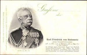 Ak Karl Friedrich von Steinmetz, Preußischer Generalfeldmarschall, Portrait, 1796-1877