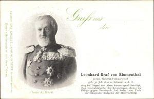 Ak Leonhard Graf von Blumenthal, Preußischer Generalfeldmarschall, Portrait