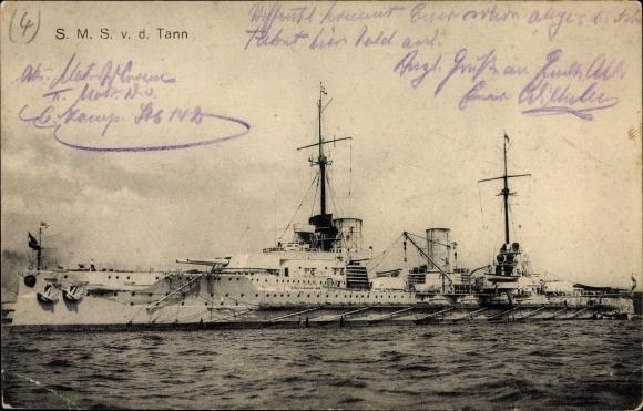Ak Deutsches Kriegsschiff, SMS von der Tann, Kaiserliche Marine