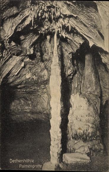 Ak Iserlohn im Märkischen Kreis, Deckenhöhle, Palmengrotte