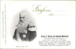 Ak Georg II. Herzog von Sachsen Meiningen, Preußischer General der Infanterie, Portrait
