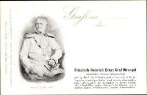 Ak Friedrich Heinrich Ernst Graf Wrangel, Preußischer Generalfeldmarschall, 1784-1877