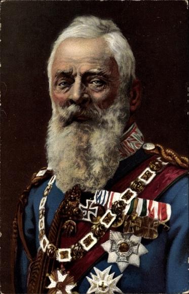 Ak Prinzregent Luitpold von Bayern, Portrait in Uniform, Orden