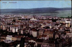Ak Brno Brünn Südmähren, Totalansicht, Blick über die Dächer der Stadt