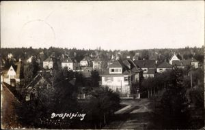 Foto Ak Gräfelfing im Kreis Fürstenfeldbruck Oberbayern, Blick auf die Stadt