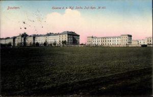 Ak Bautzen in der Lausitz, Kaserne des 4. Kgl. Sächs. Inf. Regts. No. 103