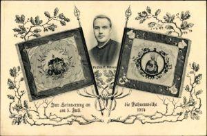 Ak München Bayern, Zur Erinnerung an die Fahnenweihe 1914, Präses P. Alfons