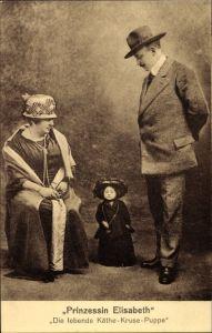 Ak Prinzessin Elisabeth, Die lebende Käthe Kruse Puppe, Liliputanerin