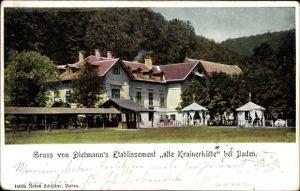 Ak Baden in Niederösterreich, Dietmann's Etablissement alte Krainerhütte