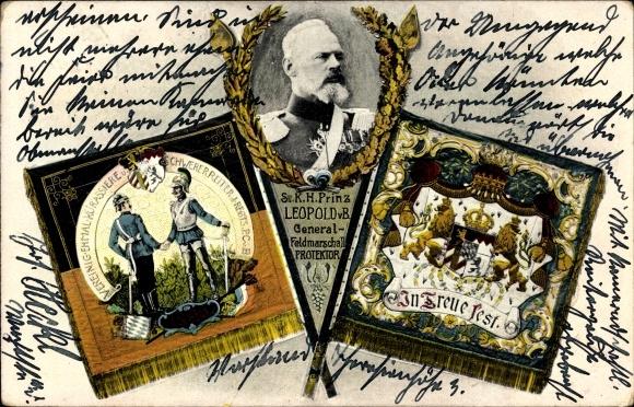 Ak Generalfeldmarschall Prinz Leopold, Verein. ehem. Kürassiere u. schwerer Reiter Inf Regt P.C.v.B.